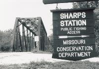 Sharp's Station Bridge Sign, Summer 1998